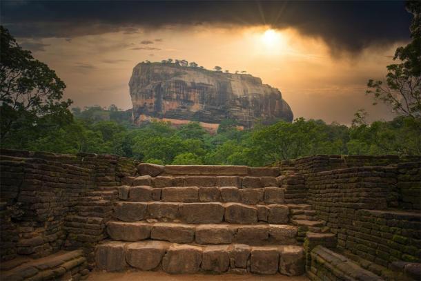 Shot from distance of Sigiriya in Sri Lanka. (Christian / Adobe stock)