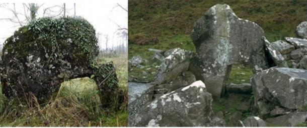Tobernaveen and Corracloona portal tombs in Ireland. (irishmegaliths.org.uk)