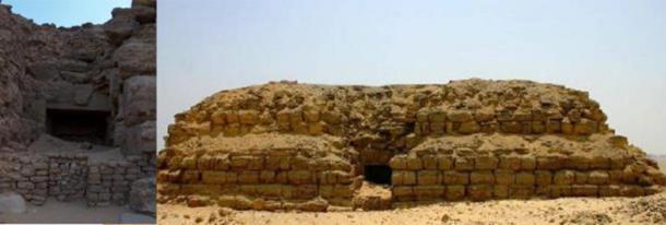 The entrance to the mastaba of Pharaoh Shepseskaf. (Author provided)
