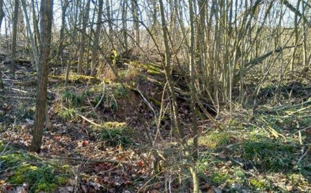At the street side of Cairn 1 you can see part of a stone step. The stonework could easily be uncovered down the side by removing the erosional rubble. (Author provided)