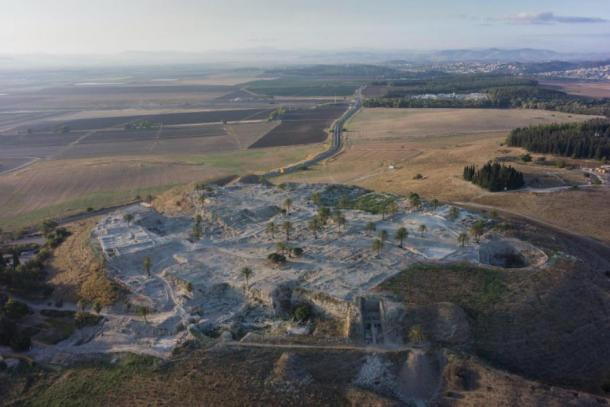 This image shows a general view of the Tel Megiddo site. (Image: Courtesy of the Megiddo Expedition / Cell)