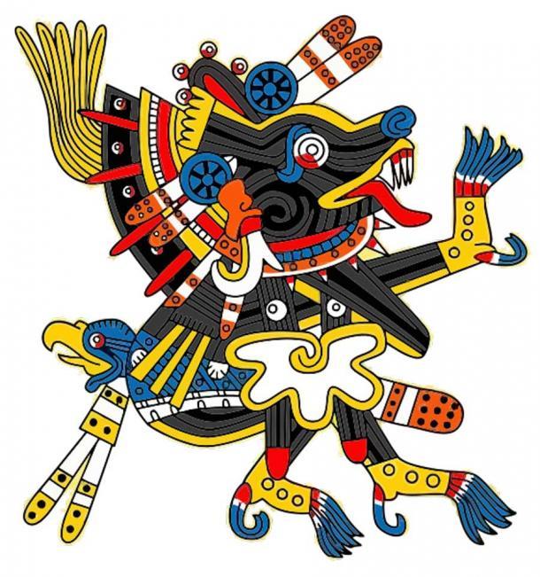 Предколумбийски изображения на Ксолотл, бога на кучето смърт.  (Публичен домейн)