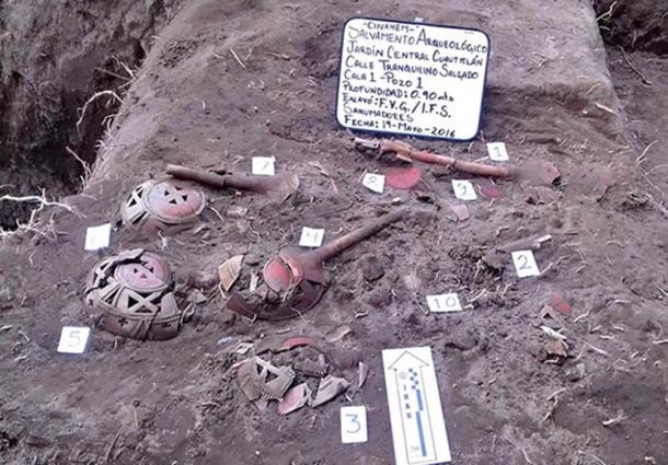 The archaeologists say that the incense burners had a ritual use.