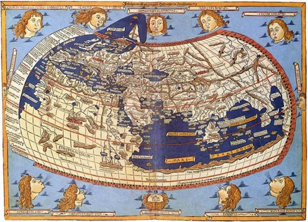 15th-century map depicting Ptolemy's description of the inhabited world, (1482, Johannes Schnitzer).