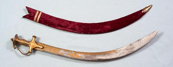 An inscribed sword that belonged to Tipu Sultan