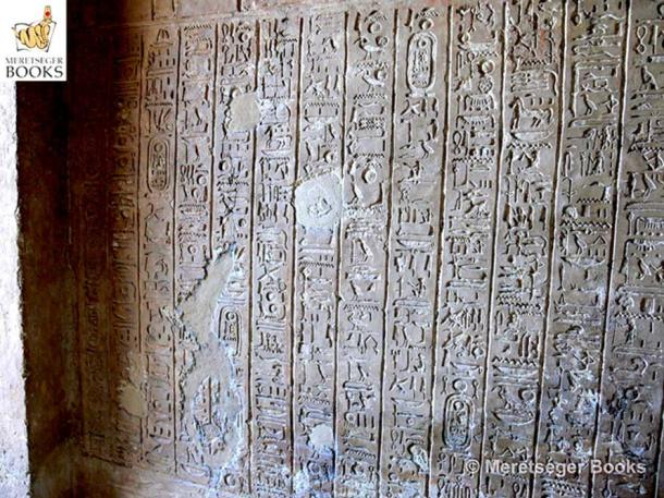 """These inscriptions from the tomb of Aye (TA25) represent the most complete version of the """"Great Hymn to the Aten"""" which occurs anywhere in Amarna. This poem is believed to have been composed by Akhenaten himself. (Photo: Meretseger Books)"""