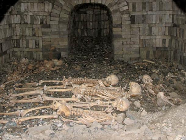 The tombs were reused multiple times, with one containing ten occupants