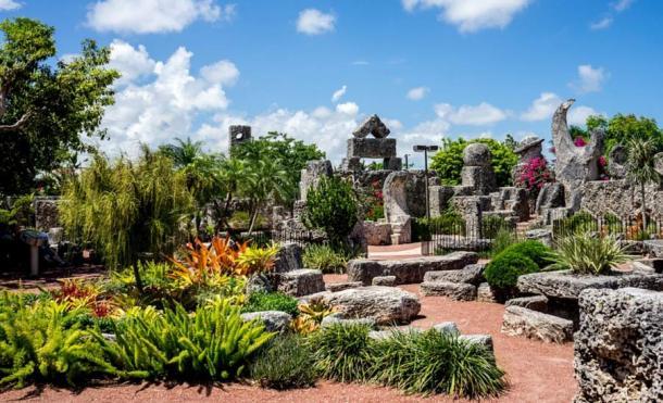 The interior of Coral Castle displays a unique artistry