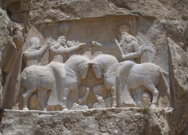 The investiture of Ardashir I.