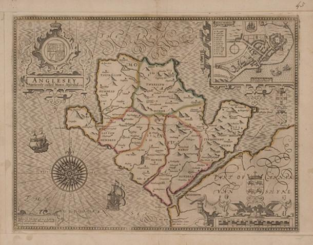 Map  of the island of Mona, 1607.