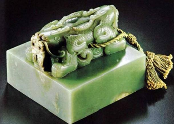 A jade imperial seal from the Qing dynasty