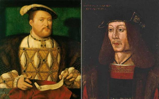 Before all out war, there was a heated exchange of letters between Henry VIII (left) and James IV of Scotland (right). (Public domain / Public domain)