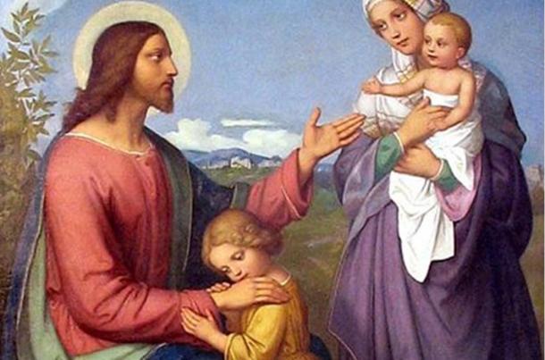 'Jesus as a friend of children' (1845), by Marie Ellenrieder