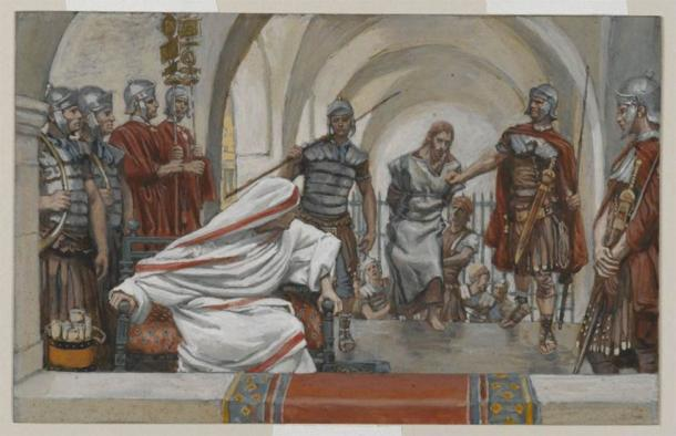 Jesus being taken from Herod to Pilate to be crucified. (James Tissot / Public domain)