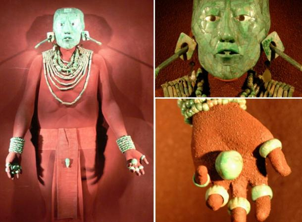 The jade adornments of Lord Pakal