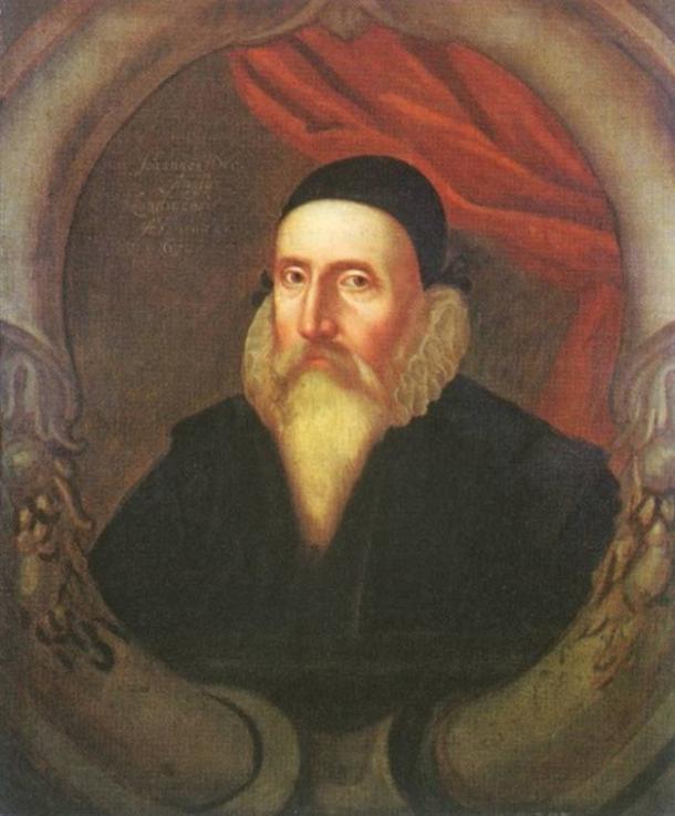 A 16th-century portrait of John Dee by an unknown artist.