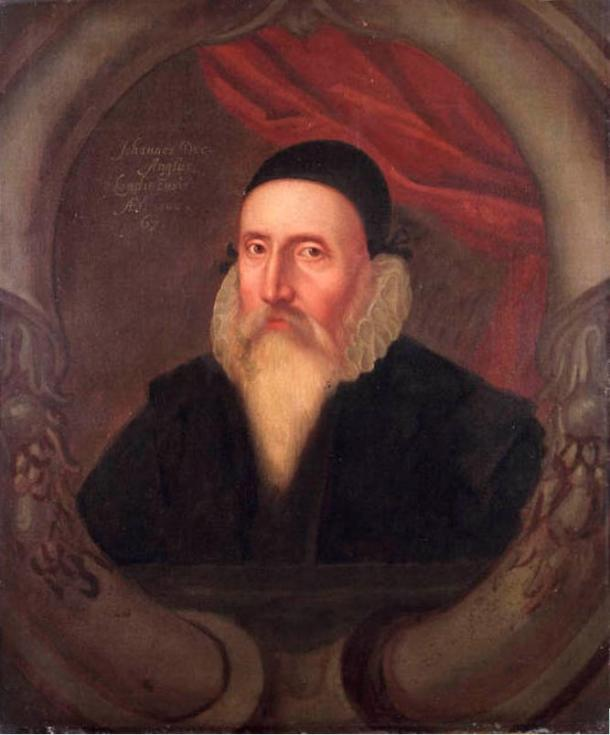 Portrait of John Dee, famous occultist who owned a copy of the Book of Soyga
