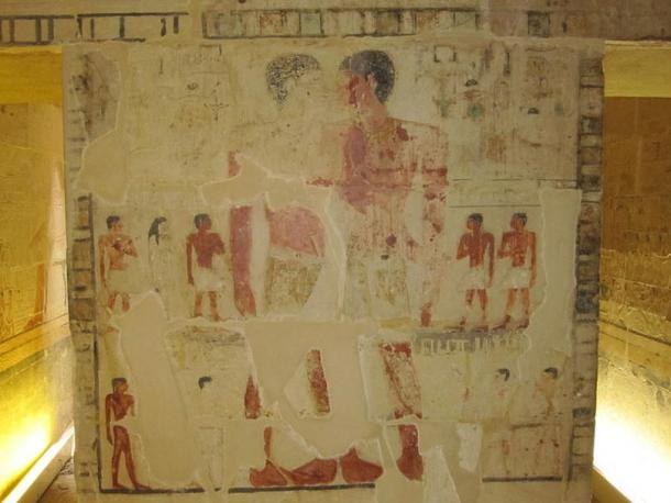 Niankhkhnum and Khnumhotep from their joint mastaba (tomb) at Saqqara, Egypt.