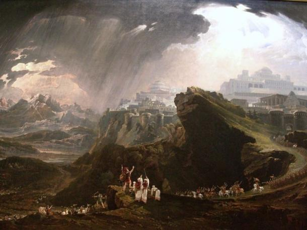 'Joshua commanding the sun to stand still' (1816) by John Martin.