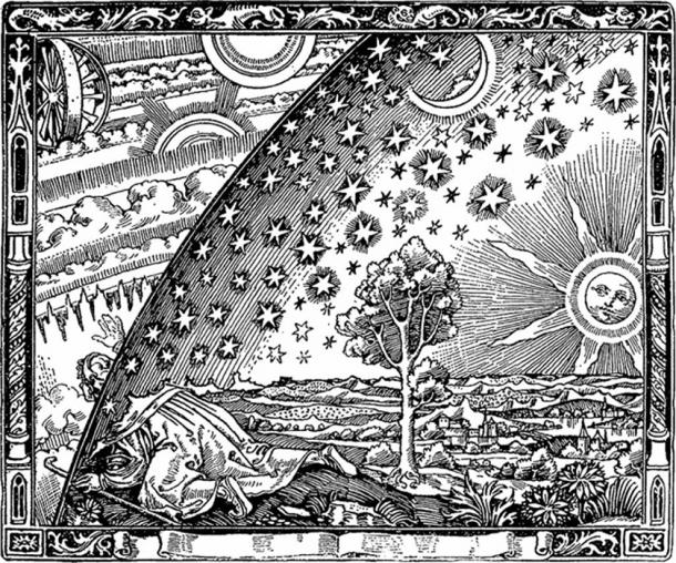 A common theme across ancient religions worldwide is the idea of an evolution, ascension, or journey of the soul. Engraving, 1888.