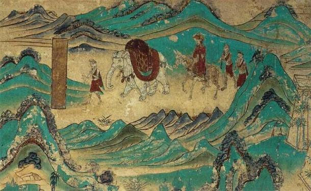Thanks to Harsha's patronage that Xuanzang was able to journey back to China from India in 643 AD. (Public domain)