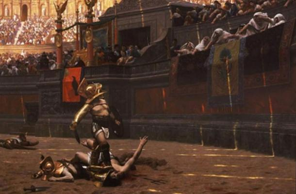Were they really the heroes they are made out to be? Dramatic painting portraying gladiators in the arena. Jean-Léon Gérôme's 1872. Public Domain.