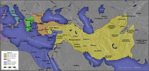 The kingdoms of Alexander's successors after 301 BC (CC BY-SA 3.0)