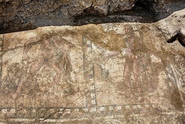 A 2nd century mosaic showing the labors of Hercules that was discovered in Larnaca.