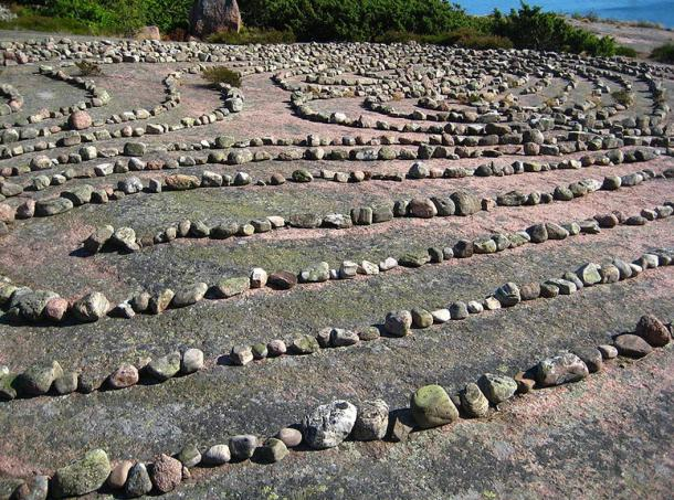 The labyrinth at the island of Blå Jungfrun, Sweden.