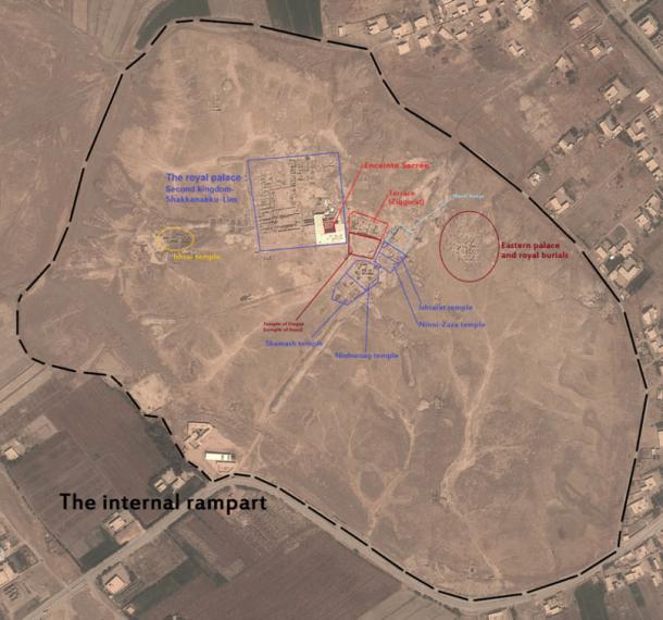 The landmarks of Mari, Syria