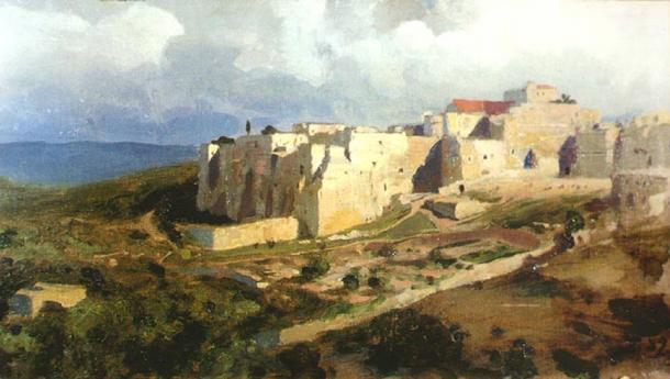 The language of Bethlehem (pictured) was Aramaic
