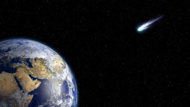 A large enough comet could cause a cataclysm on Earth. (urikyo33 / Public Domain)