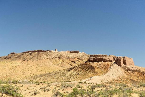 The largest castle ruins of ancient Khorezm – Ayaz - Kala, Uzbekistan. (Zaneta /Adobe Stock)