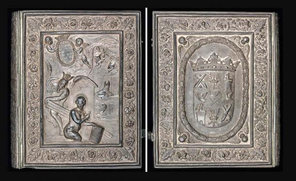 The lavish silver cover of the Codex Argenteus was commissioned by Magnus Gabriel De la Gardie. (Uppsala University Library / Public domain)