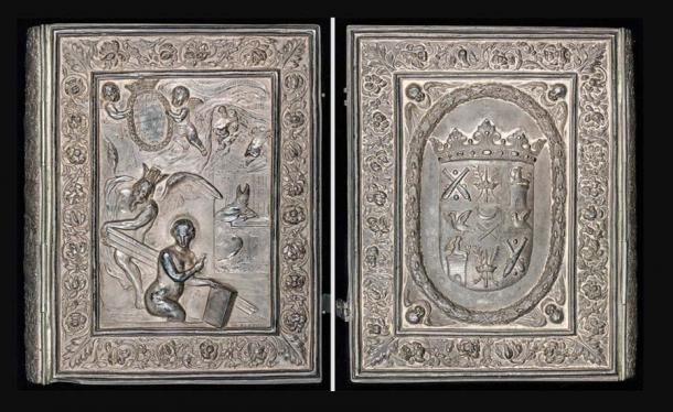 The lavish silver cover of the Codex Argenteus was commissioned by Magnus Gabriel De la Gardie. (Uppsala University Library / Public domain)
