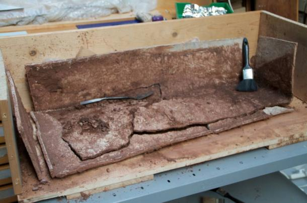 The lead-lined coffin found in Leicestershire