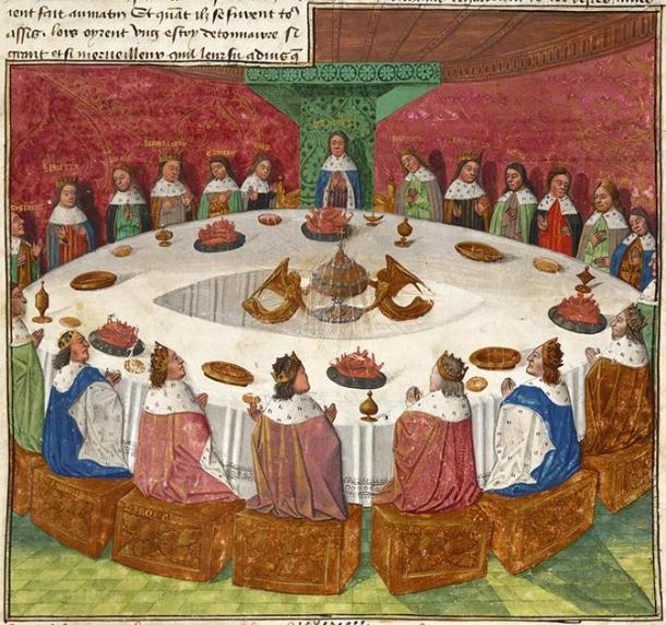 Arthurian legend - Knights of the Round Table from a medieval manuscript. (Michael Hurst / Public Domain)