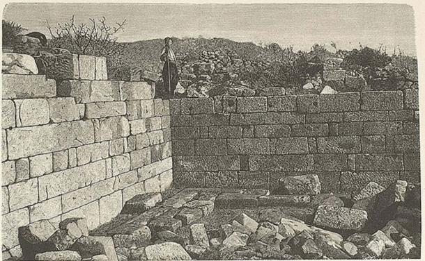 The library before excavations.