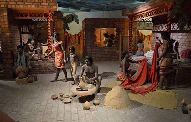 Diorama of everyday life in Indus Valley Civilization. (National Science Centre, Delhi, India)