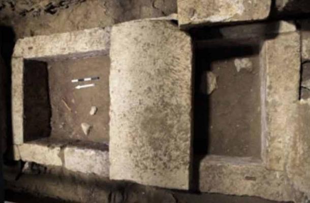 The limestone burial vault