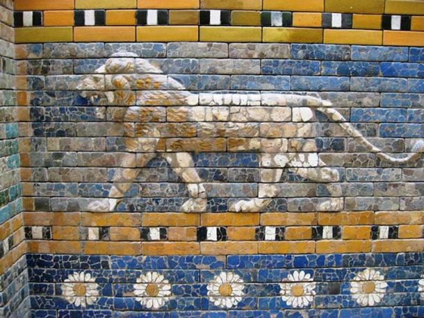 The lion as a symbol of a giant cat. (detail of the Ishtar Gate)