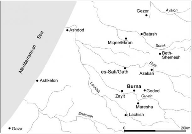 The location of the site in relation to the ancient kingdoms, as seen above.