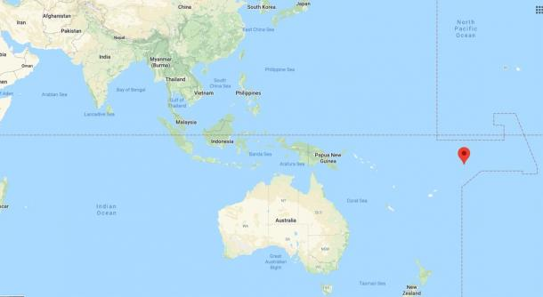 Location of Tokelau, Pacific Ocean (Google Maps)