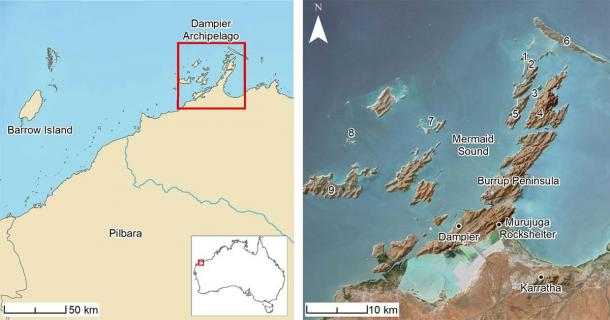 Location maps of the study area and sites referenced in text. 1) Cape Bruguieres Island; (2) North Gidley Island; (3) Flying Foam Passage; (4) Dolphin Island; (5) Angel Island; (6) Legendre Island; (7) Malus Island; (8) Goodwyn Island; (9) Enderby Island. (Image: PLOS ONE)