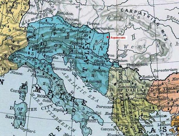 The location of Aquincum within the Roman Empire. (Public domain)