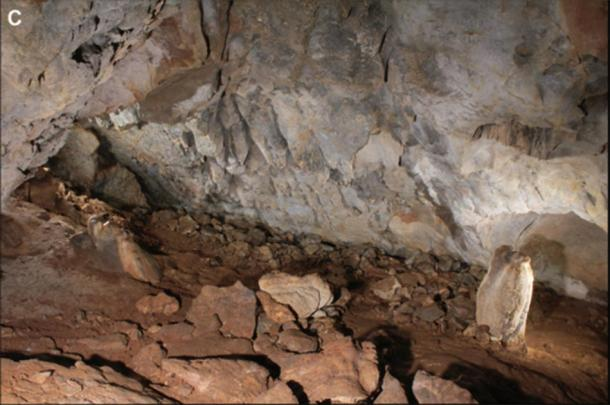 Location of the panels in the Danbolinzulo cave. (Blanca Ochoa et al. / Antiquity Publications Ltd)