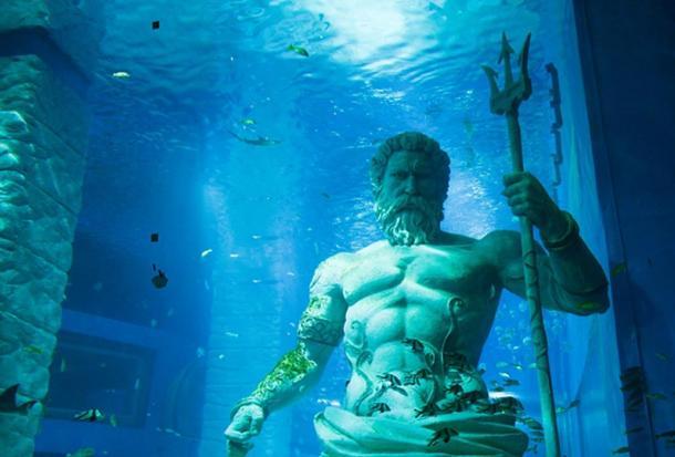 Poseidon, lord of the sea.