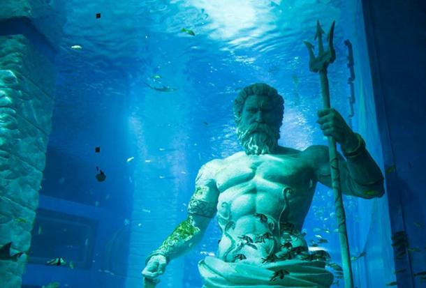 Poseidon, lord of the sea.