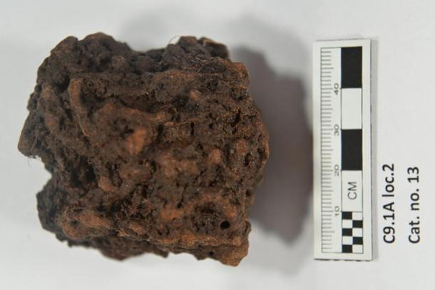 A lump of what the researchers say is bog iron ore. It is one of the samples being tested from the possible Viking site at Point Rosee.