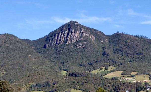 The magical rock of Juiaca, situated between the municipalities of Tabio and Tenjo, Colombia.